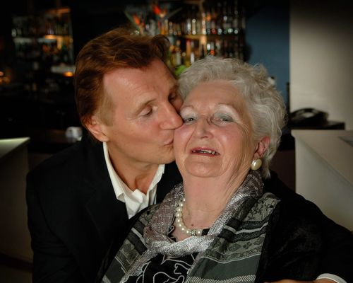 Photo of Liam Neeson  & his  Mother  Katherine Brown Neeson