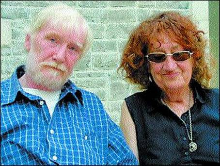 Leland Bardwell with the late Dermot Healy