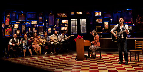 Once, The Musical, onstage at the New York Theater