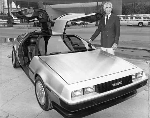 John DeLorean with the DMC-12