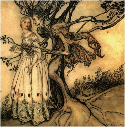Suddenly the Branches twined around her -1917