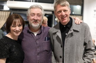 With composer Neil Martin and novelist Glenn Patterson