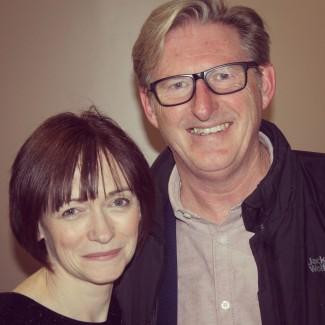 With Adrian Dunbar